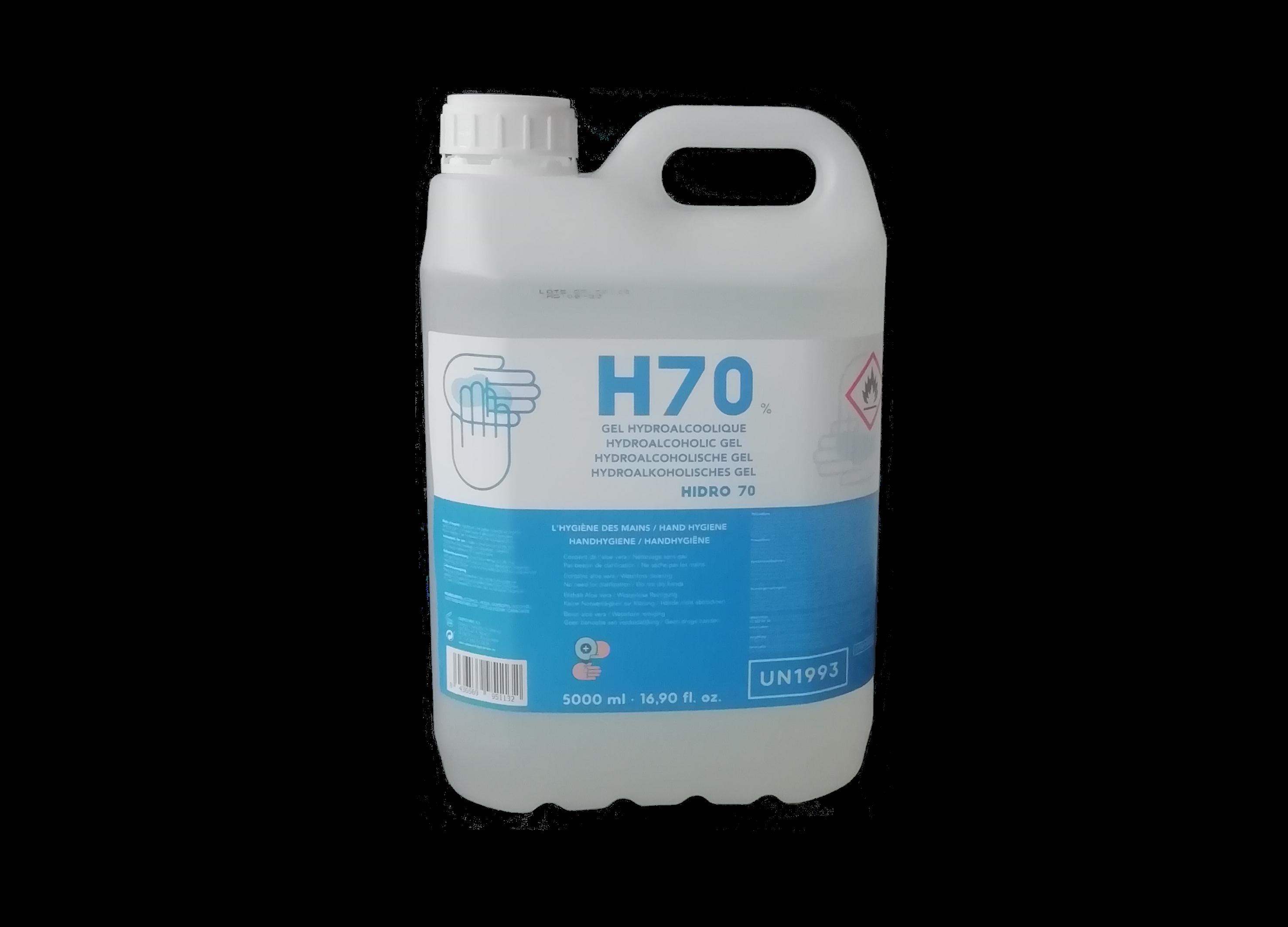 H70 Hydrogel met alcohol en aloe vera 5L