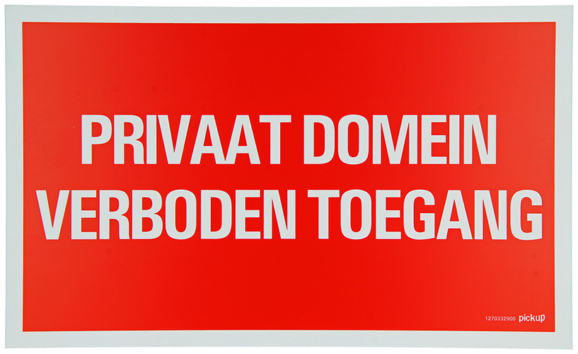 PU PRIVAAT DOMEIN VERBODENTOEGANG 33X20CM