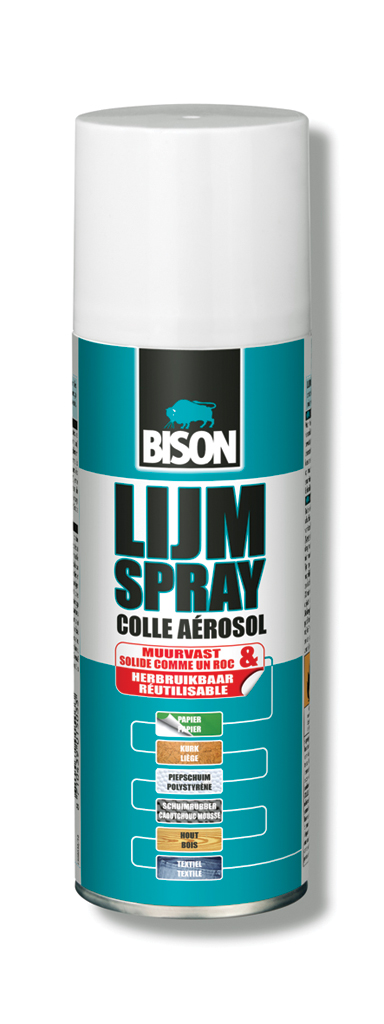 Bison lijmspray 200 ml spuitbus