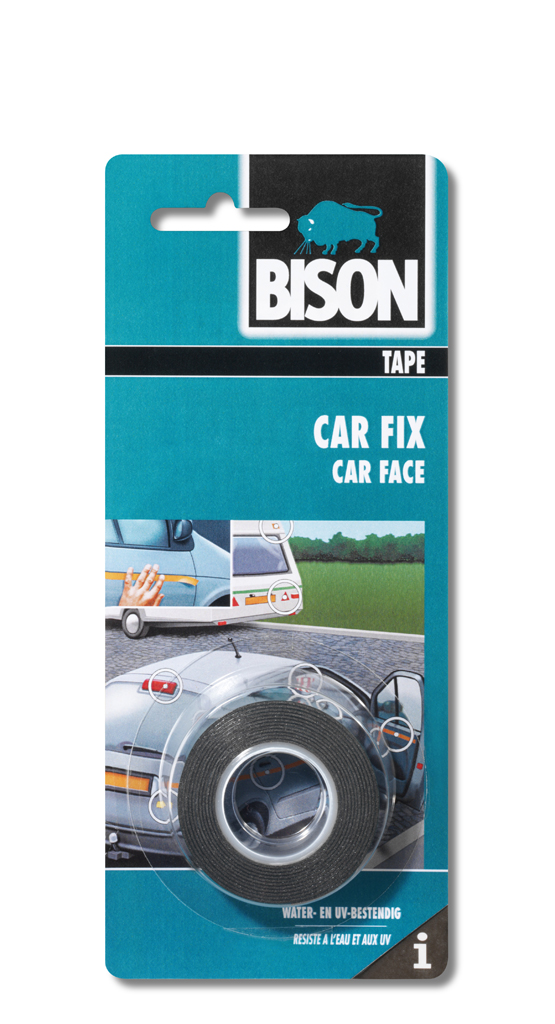Car Fix rol/rouleau 1,5 m x 19 mm zwart kaart/noir carte