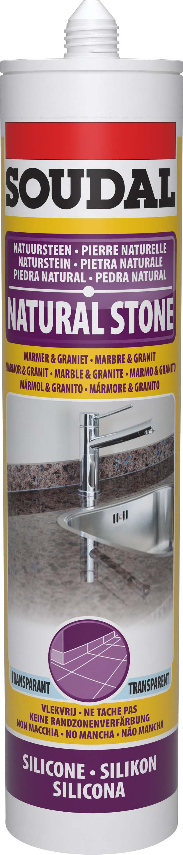 Natuursteensilicone marmergrijs/gris marbre 300 ml