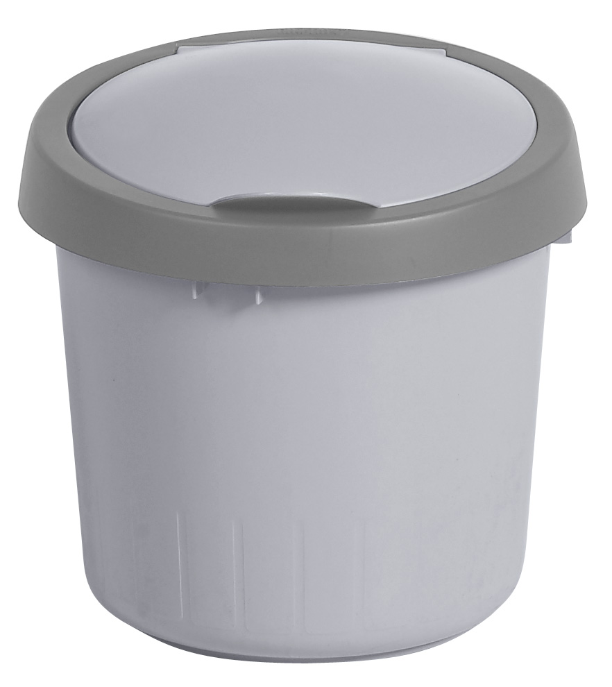 futuris afvalbak 5L steel / grijs