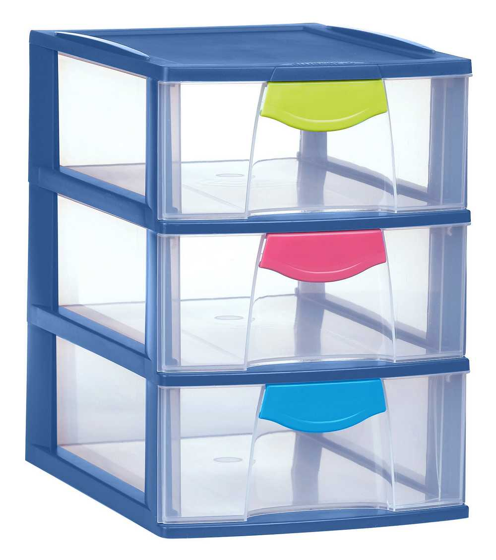 magic case ladesysteem 3x3L oceanic blauw / trendy