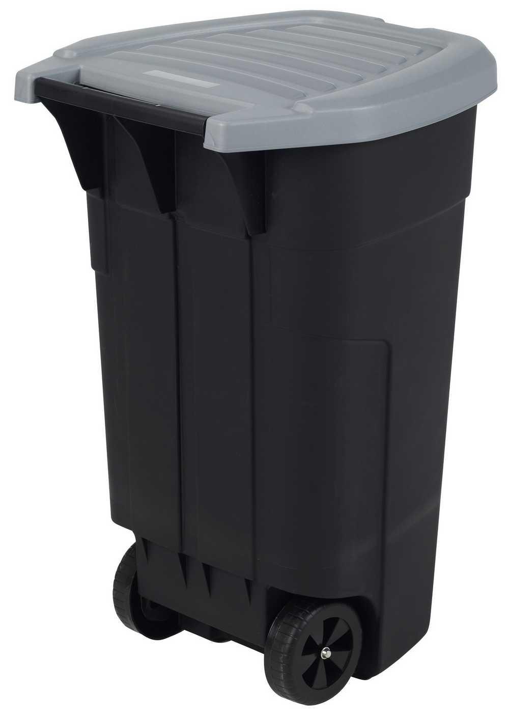mobiele afvalbak 110l anthraciet/steel