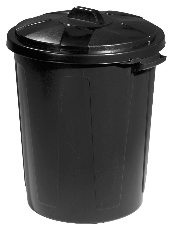 straatvuilbak 70l zwart