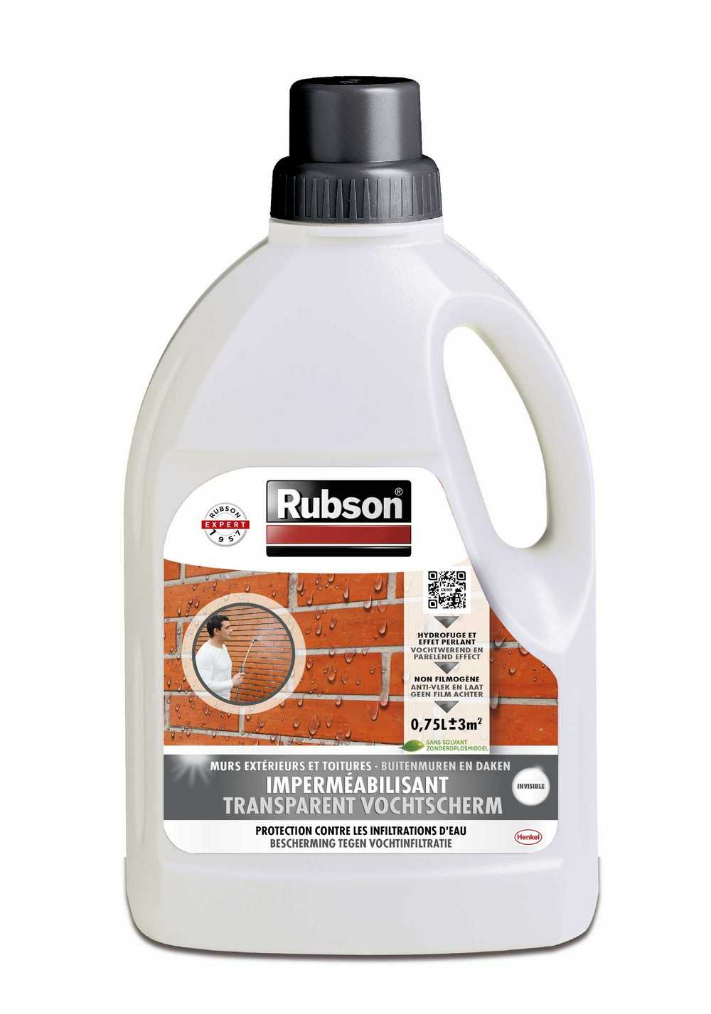 RUBSON INVISIBLE KL.L.750ML  TRANSPARANT VOCHTSCHERM 750ML