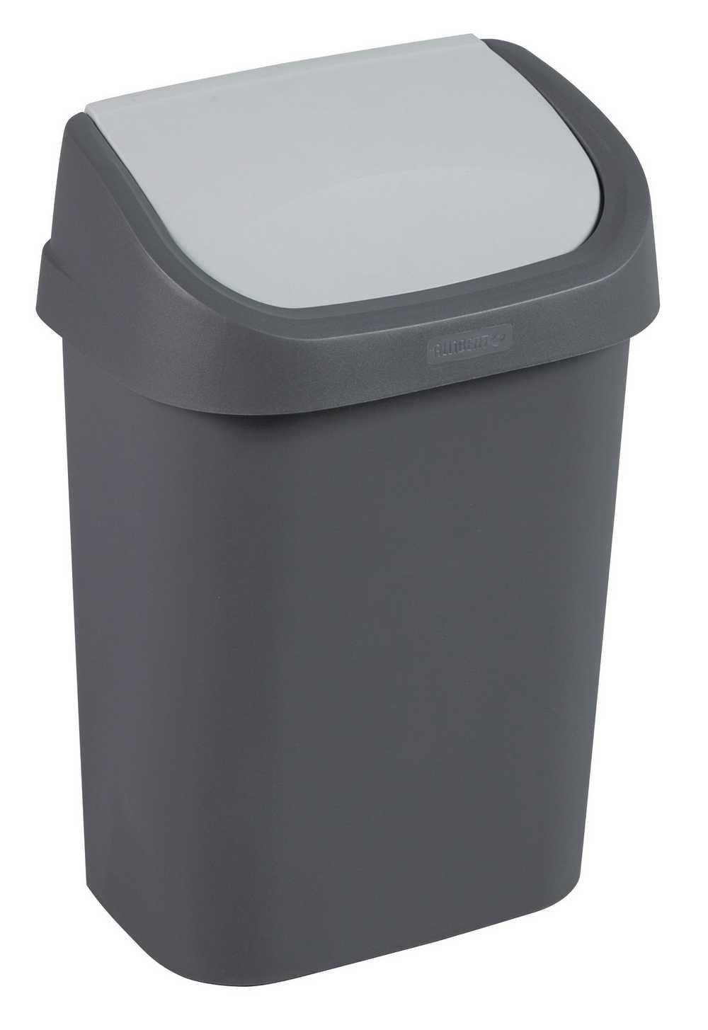 mistral afvalbak swing 10L antraciet / soft grey