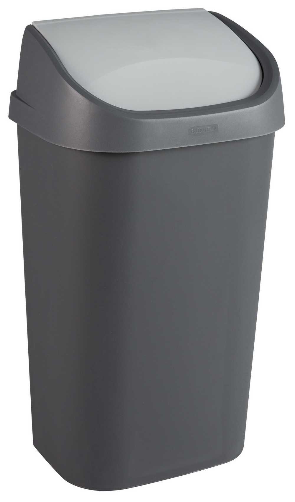 mistral afvalbak swing 50L antraciet / soft grey