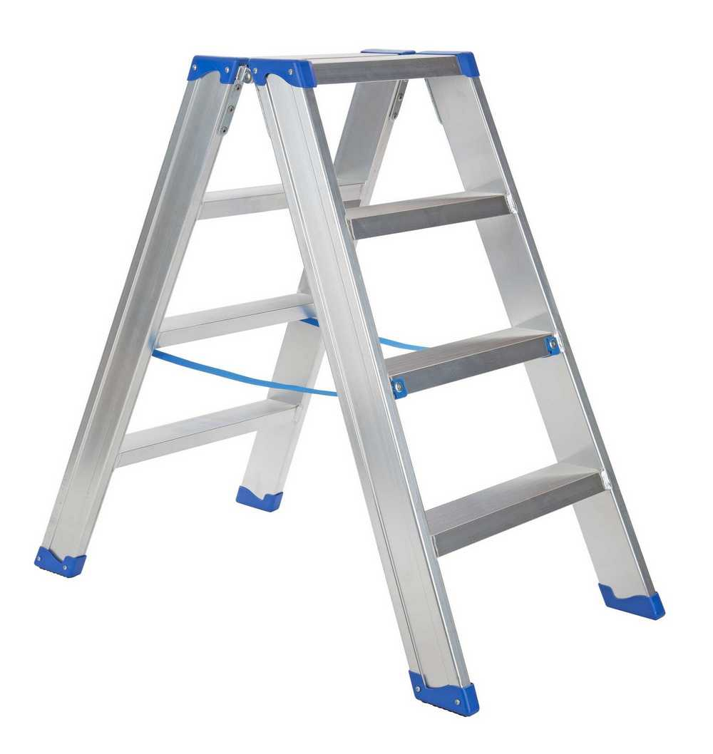 IND. DUBBELE TRAPLADDER SPARTA DUO 2X4TR