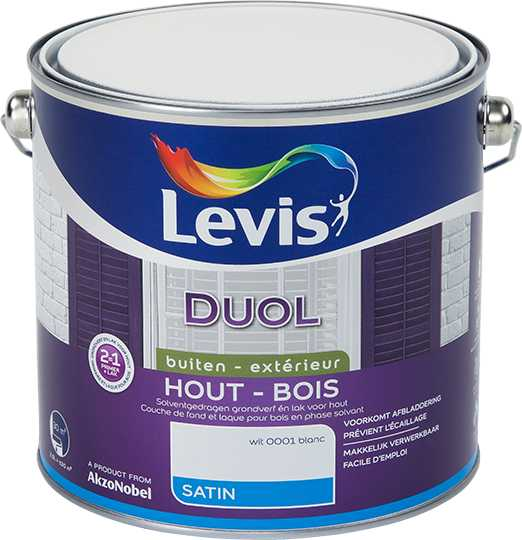 DUOL SATIN - WIT 0001 2,5L