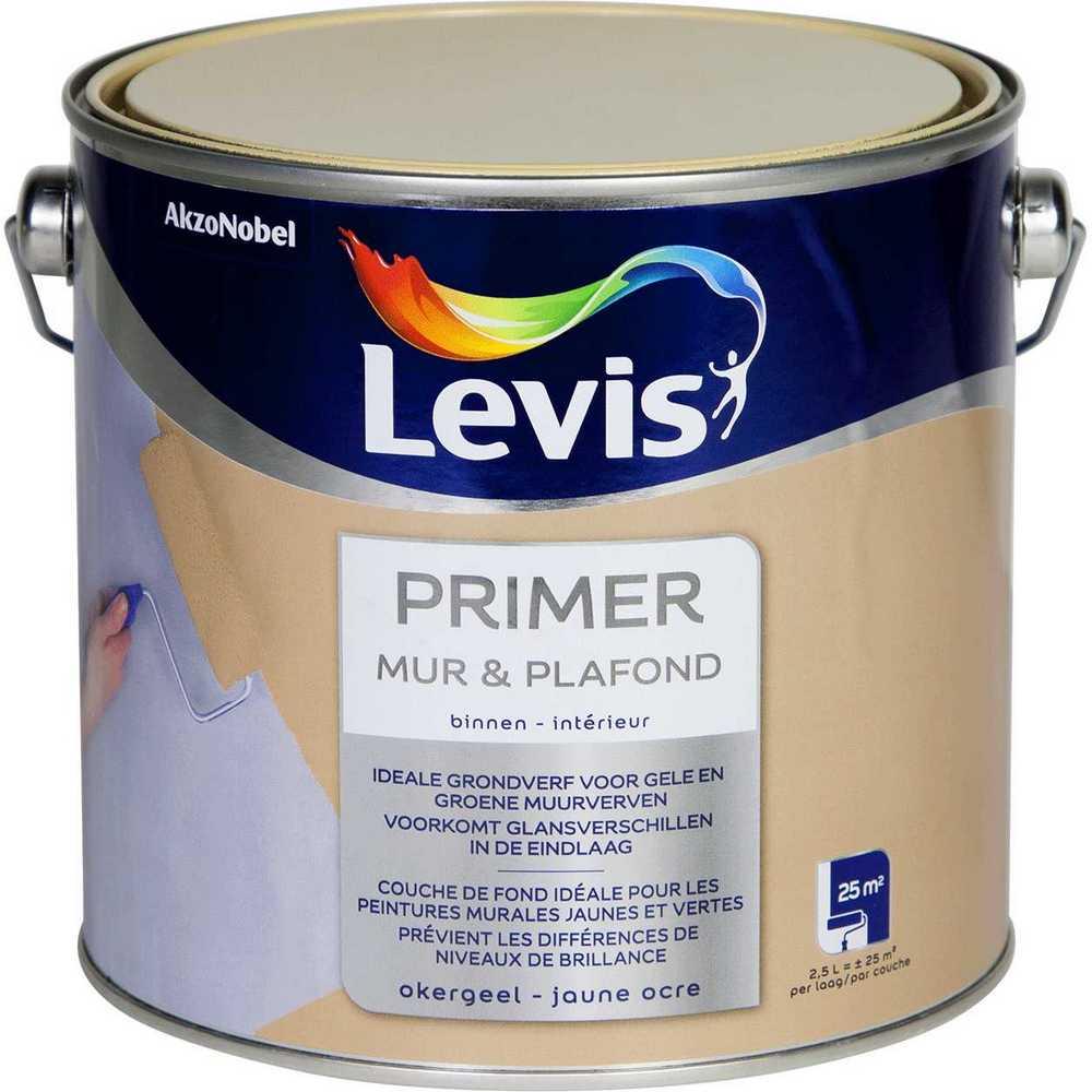 LEVIS PRIMER MUR & PLAFOND OKERGEEL 2,5L