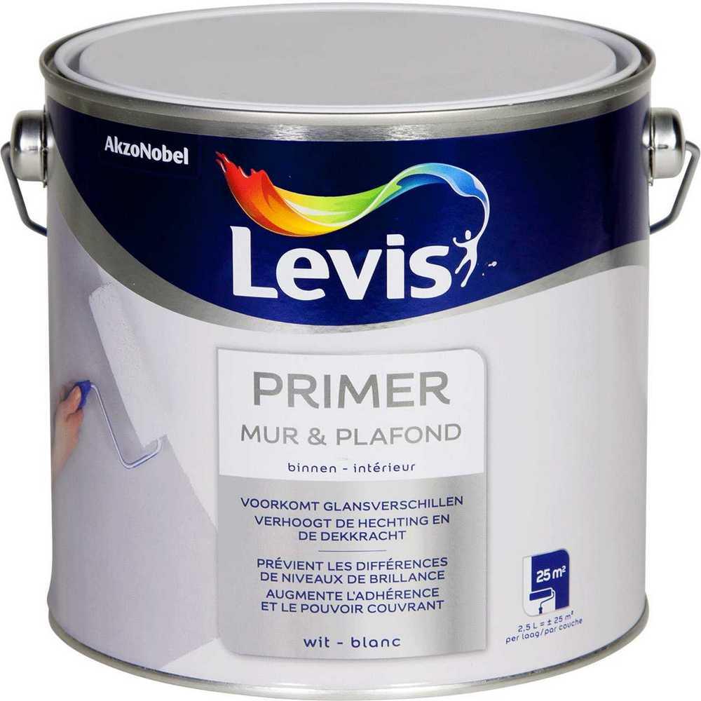 LEVIS PRIMER MUR & PLAFOND WIT 2,5L