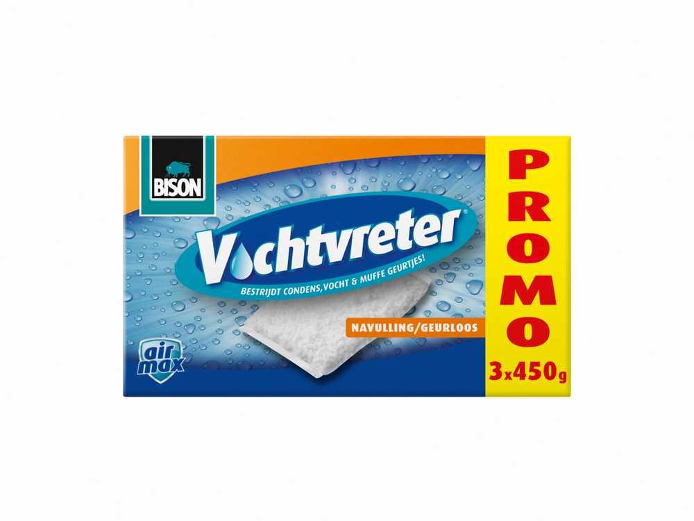 Bison Vochtvreter® Navulzak 3 x 450 g geurloos Promopack