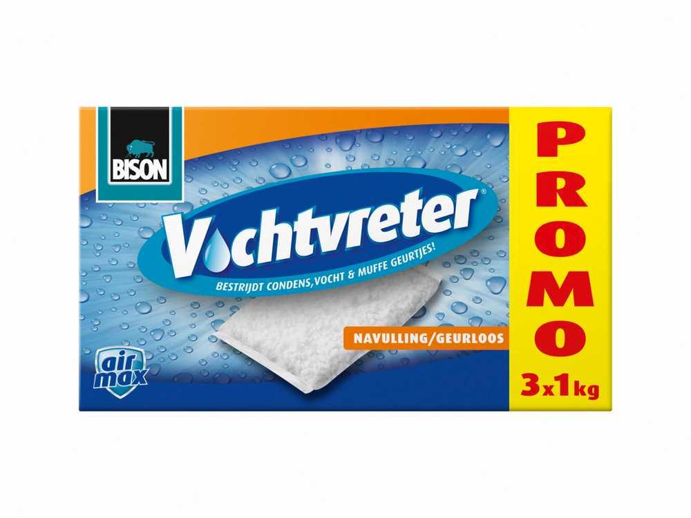 Bison Vochtvreter® Navulzak 3 x 1 kg geurloos Promopack